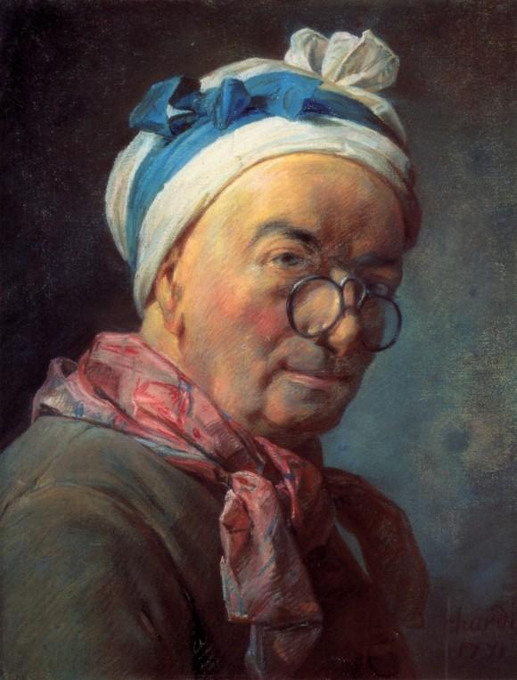 «Автопортрет в пенсне» (1771г.) Жан-Батист Симеон Шарден.