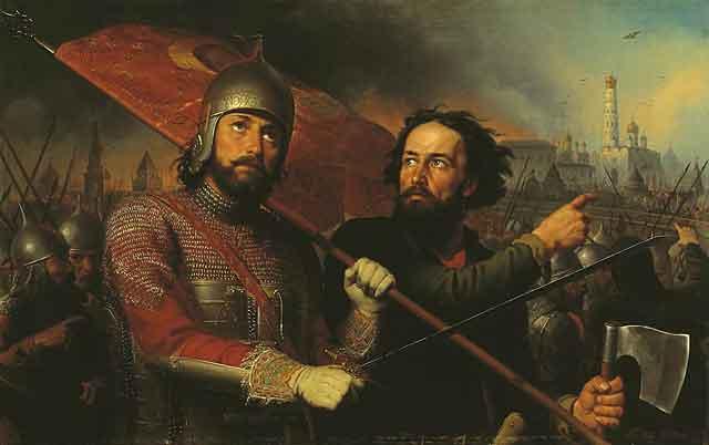 """""""Минин и Пожарский"""". Картина М. Скотти.1850г."""