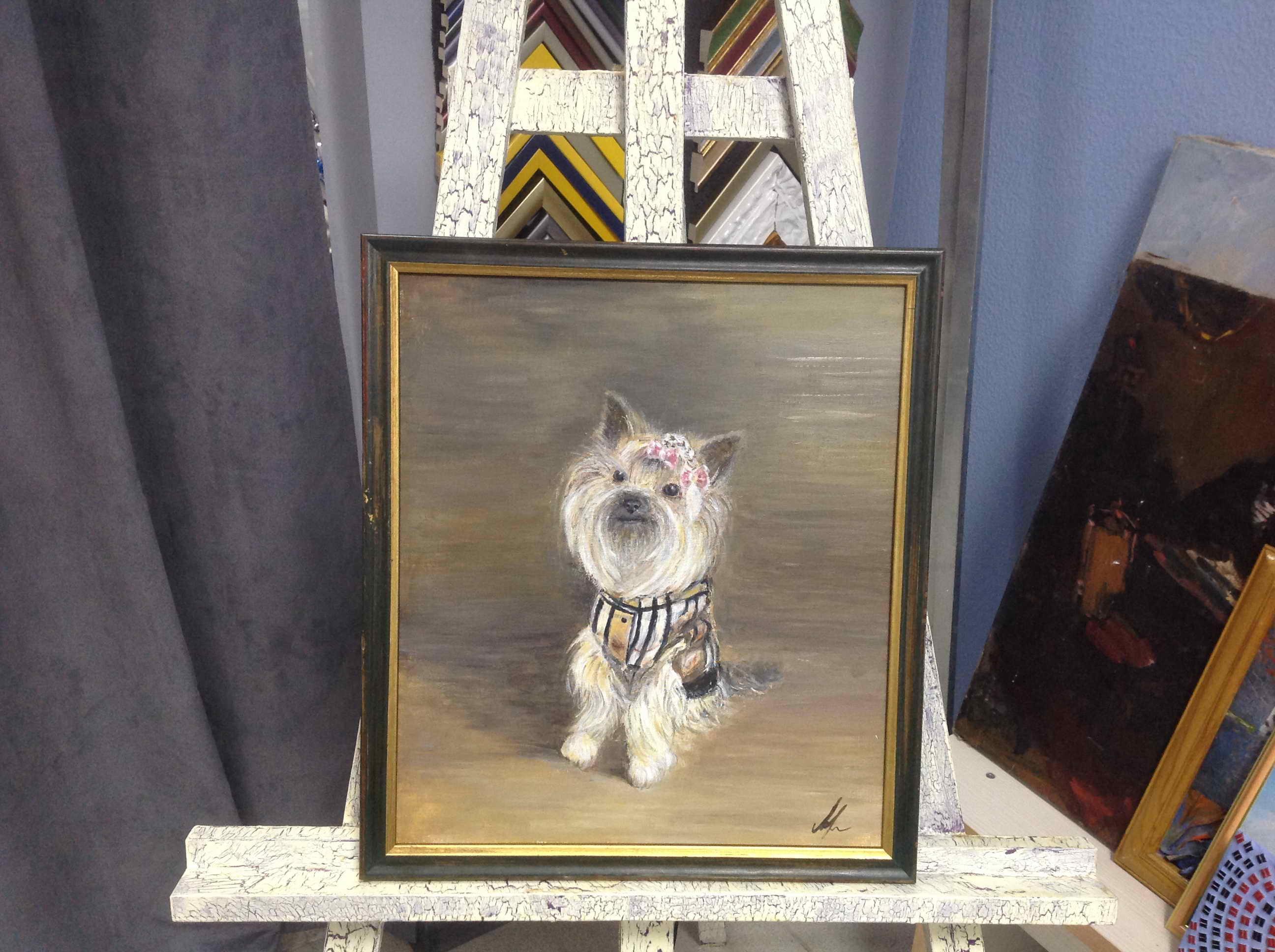 Масло. «Портрет собаки»