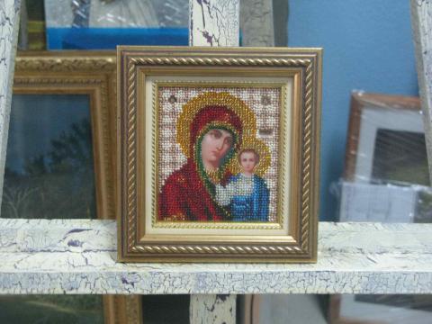 Вышивка бисером «Богородица»