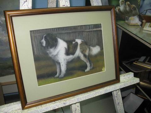Пастель «Собака»