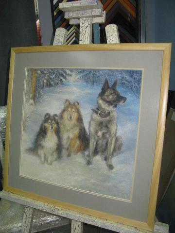 Пастель «Собаки»