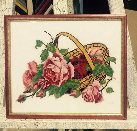 Вышивка «Корзина с розами»