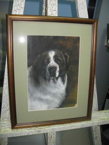 Пастель «Портрет Собаки»