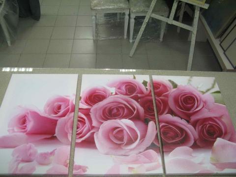 Модульная картина «Розы»