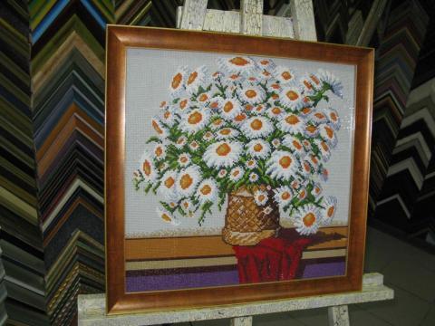 Алмазная живопись «Букет ромашек»