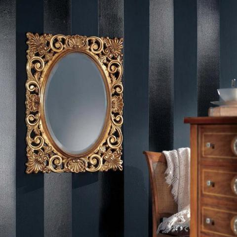 S020 Зеркало овальное золото
